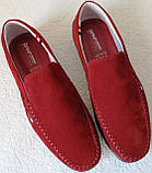 Style! Tommy Hilfiger! Мужские в стиле Томми Хилфигер красные замшевые мокасины, фото 9