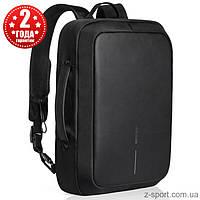 Деловой рюкзак-портфель антивор XD DESIGN Bobby Bobby Bizz (Оригинал) черный