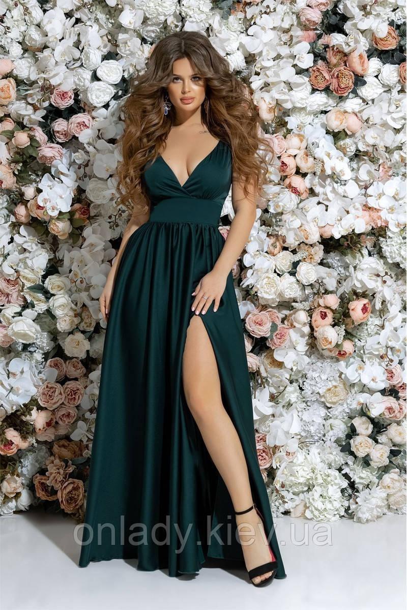 6e9d622e24f Зеленое шелковое платье в пол (S)  Примерка и 30 дней на возврат ...