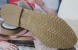 Мюли в стилі Gucci жіночі.! Сабо на низькому ходу з закритим носком Шльопанці Гучи колір блакитний, фото 10