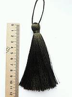 Кисти шелковые декоративные ( 1 шт ) Китиця декоративна велика 10-11 см, хакі, дуже темна 0171, 1 шт.