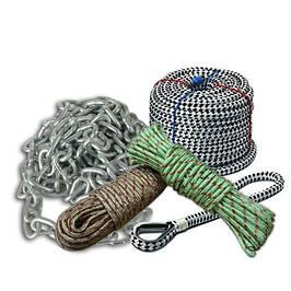 Якорные веревки, цепи