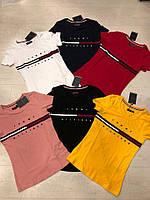 Модная летняя женская турецкая футболка с надписью, FL 1131