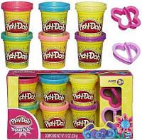 Play-Doh Набор пластилина из 6 баночек Блестящая коллекция