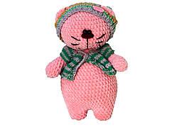 Игрушка ручной работы Handmade котик, розовый