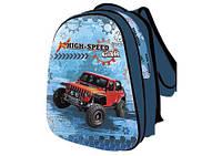 Рюкзак школьный каркасный для мальчика KIDIS 39*30*18 см серия HIGH SPEED (джипы)