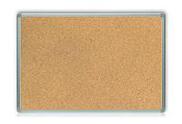 Доска пробковая в аллюминиевой рамке на картон. основе 60*100см