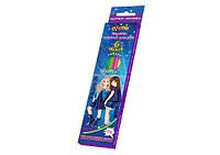 Олівці кольорові Kidis Дівчата 6 кольорів гнучкі