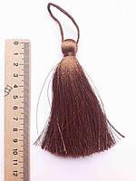 Кисти шелковые декоративные ( 1 шт ) Китиця декоративна велика 10-11 см, коричнева світла,  0179, 1 шт.