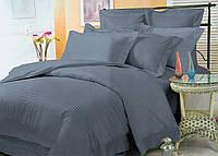 Элитное цветное постельное бельё из страйп-сатина люкс (10801) комплект двуспальный 180х220 Украина