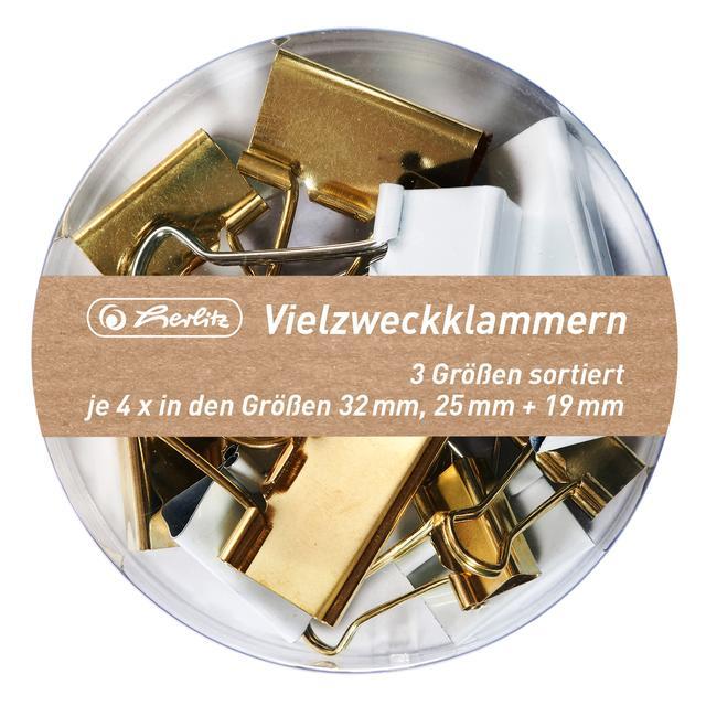 Набор биндеров Herlitz Pure Glam 12 шт 32+25+19 мм