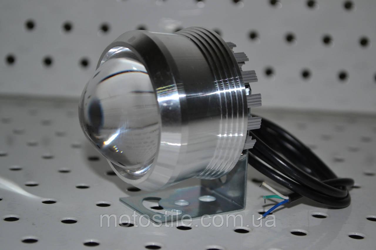 Дополнительная светодиодная LED фара ЛИНЗА 12V12W