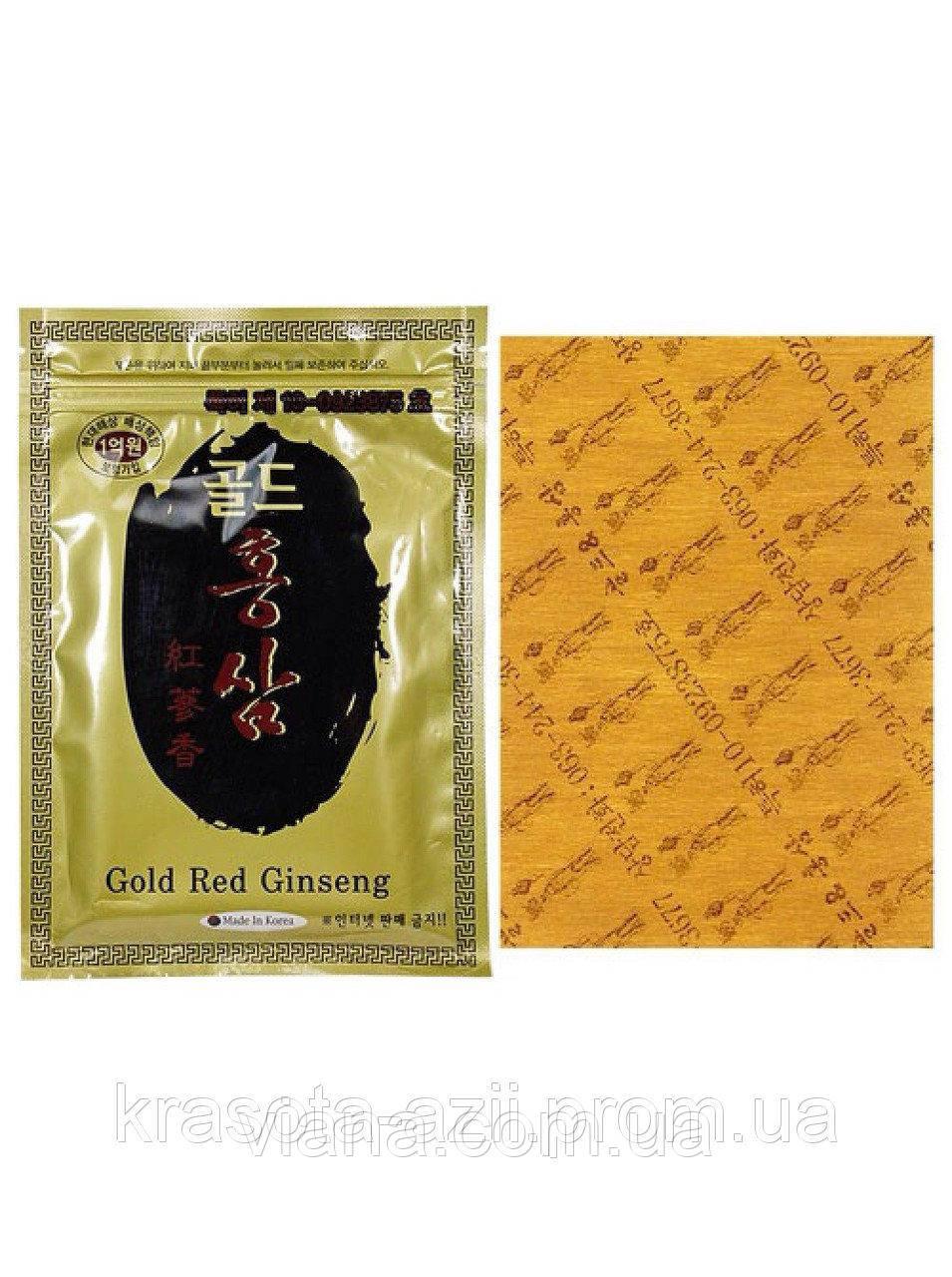 Высокоэффективный пластырь с красным корейским женьшенем от болей в спине производство Юж.Корея