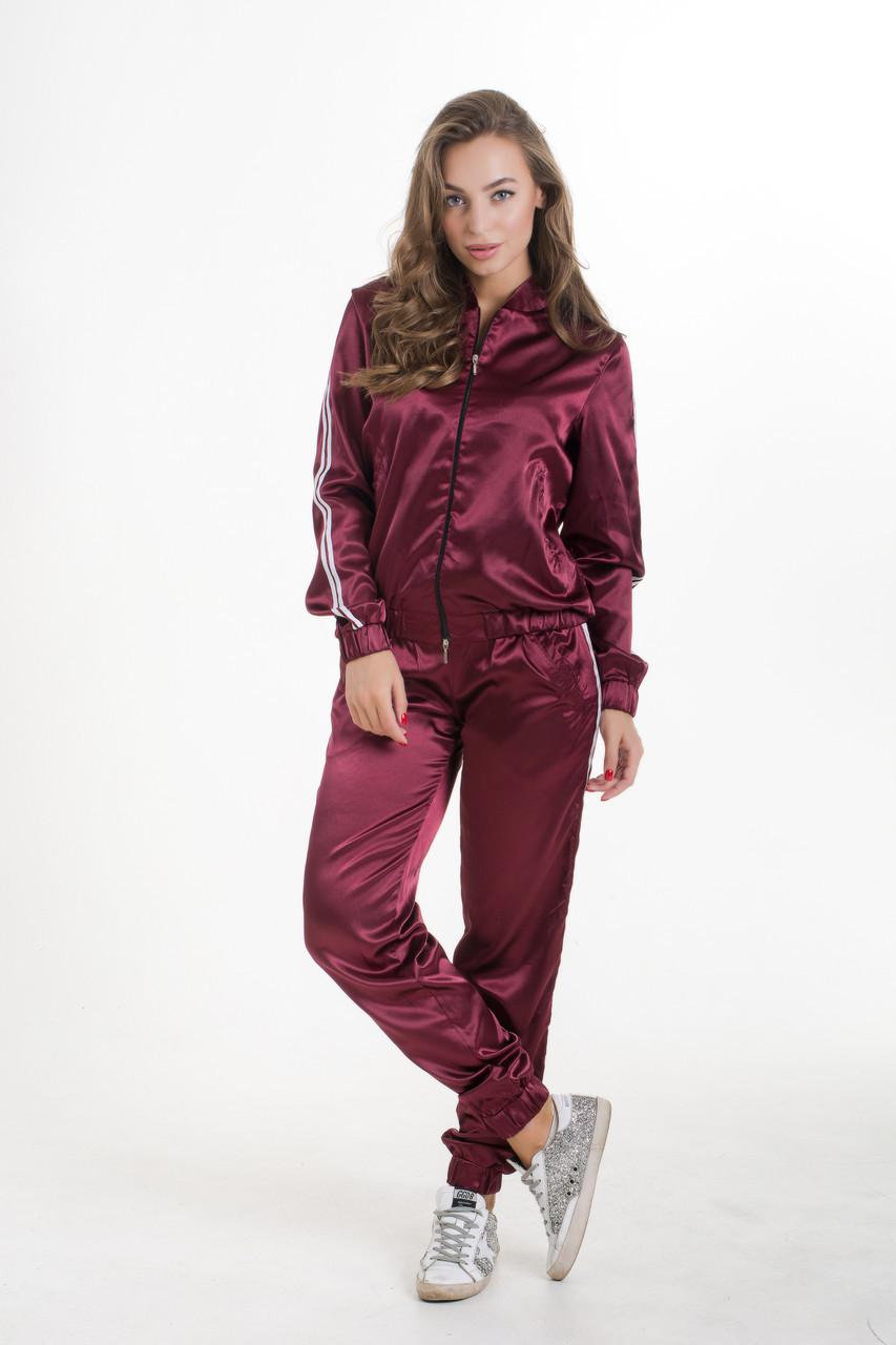 Спортивный костюм  K&ML 461 бордовый 46 - 48