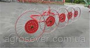 Грабли ворошилки (Солнышко) 5-ти колесные для минитрактора проволока 6мм