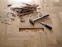 Демонтаж дерев'яної, паркетної підлоги в Луцьку, фото 1