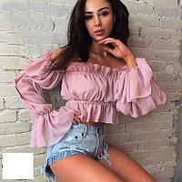 Блуза женская шифоновая с открытыми плечами  мал237, фото 1
