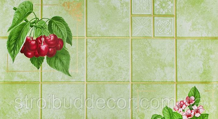 """Обои бумажные мойка  Шарм 0,53*10,05  Кухня """" под плитку"""" ягоды"""