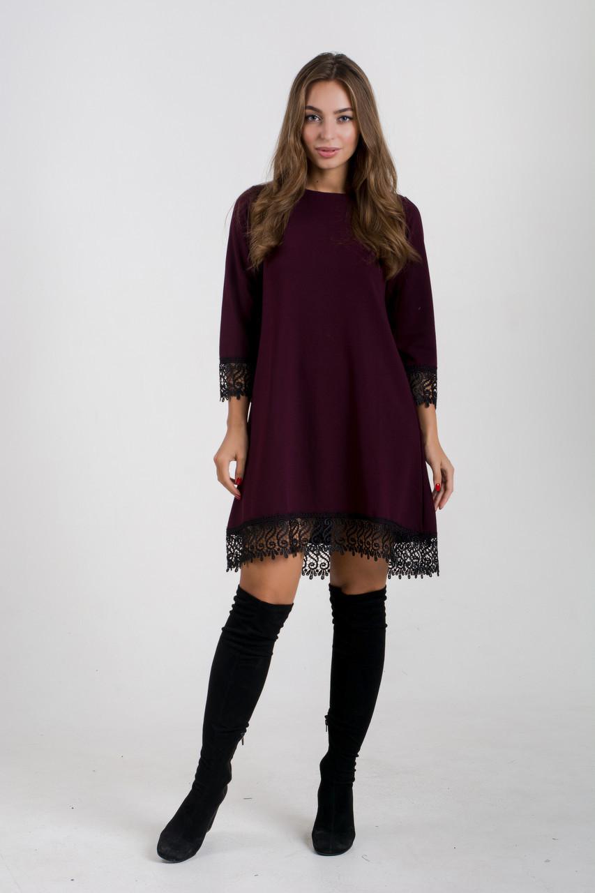 Платье K&ML 433 бордовый 46