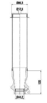 Пневматическая рессора кабины SCANIA 4, P,G,R,T 05.95- ( AIRTECH ) A 3001103