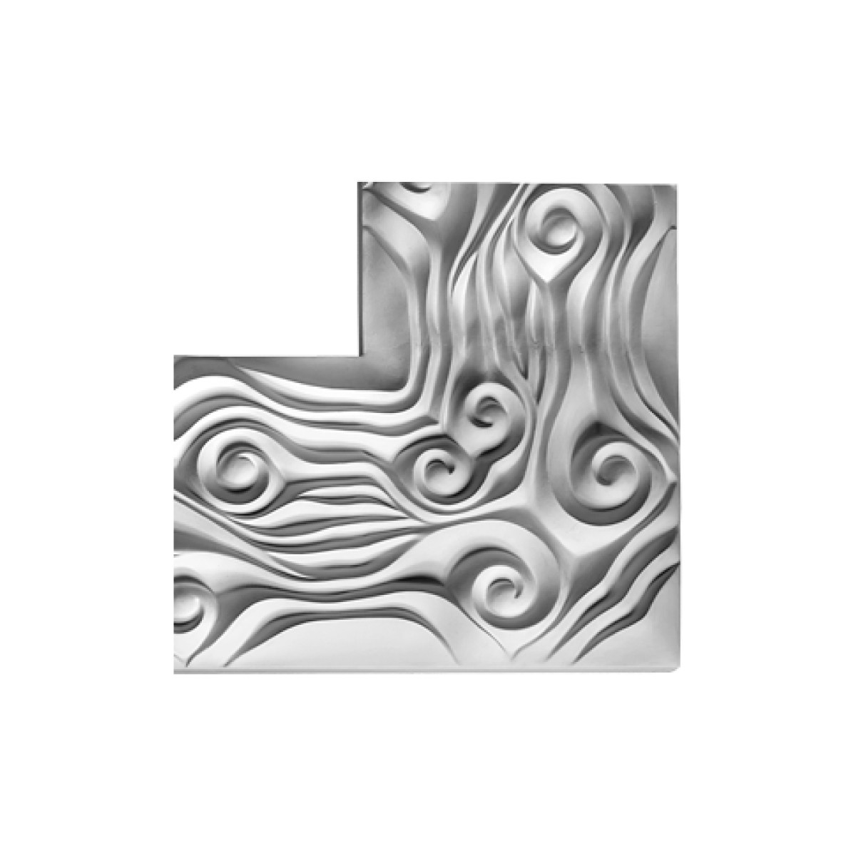 Декоративний кут з гіпсу, гіпсовий кут у-137 һ200х200мм
