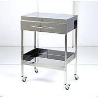 Столик медицинский с ящиком на 2 полки (640) СтЯ-2П-640