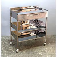 Столик медицинский с ящиком на 3 полки (800) СтЯ-3П-800