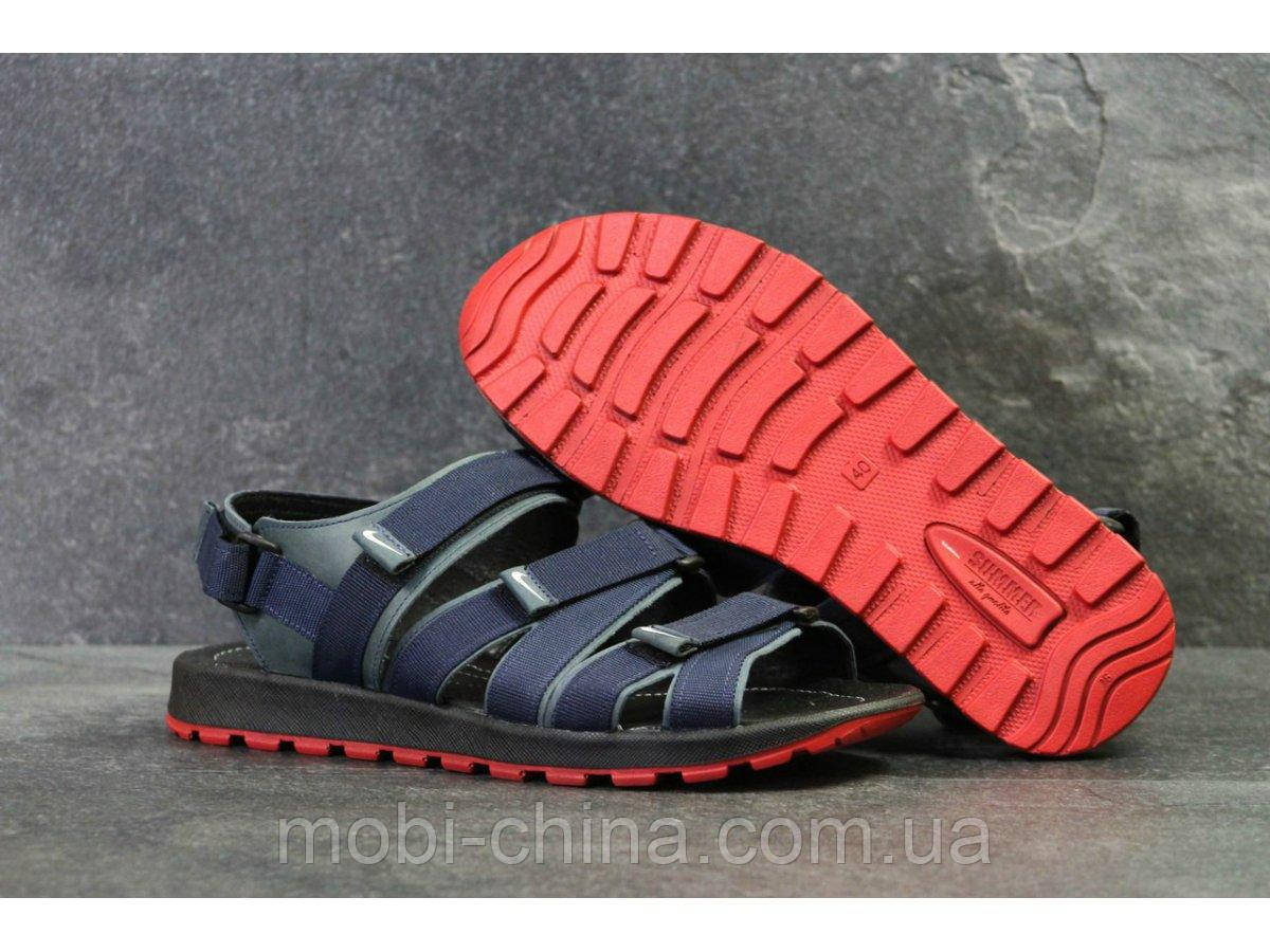Мужские сандалии Nike, синие (Топ реплика ААА+) 5241