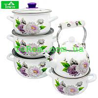 Набор эмалированной посуды  2/L Violet Роза