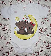 Бодик детский Мишки на луне, рр. 62-68-74-80-86