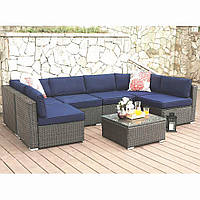 Комплект меблі з штучного ротангу VILLA , меблі для саду та тераси, меблі для відпочинку, фото 1