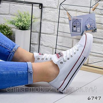 Кеды женские Converse All Star ail, белые, 6797, фото 2