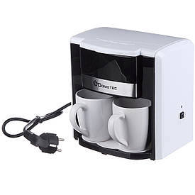 Кофеварка Domotec на 2 чашки 500W (MS-0706)