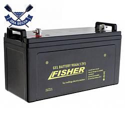 Аккумулятор гелевый Fisher Gel 90A*h 12V для лодочного мотора