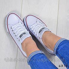 Кеды женские Converse All Star ail, белые, 6376, фото 2