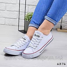 Кеды женские Converse All Star ail, белые, 6376, фото 3