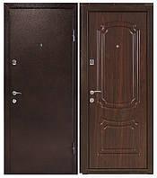 """Входная дверь """"МИНИСТЕРСТВО ДВЕРЕЙ"""" ПУ-01 Орех коньячный (высота 1900), фото 1"""