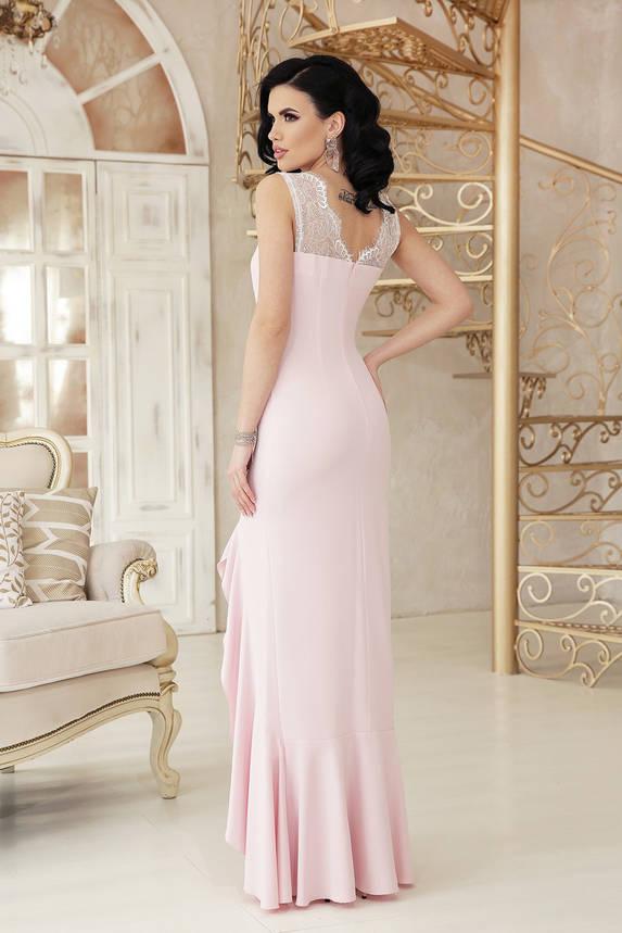 Вечернее платье в пол выпускное пудра, фото 2