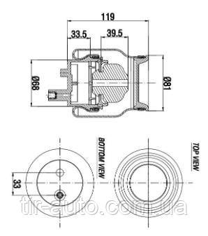 Пневматическая рессора кабины RVI Kerax/97-, Premium/96- ( AIRTECH ) A 3001501