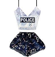 Пижама женская Police шелковая XS-S
