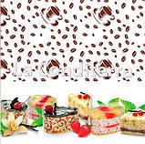 """Бордюрная лента для тортов с рисунком """"Кофейные зерна"""" (высота 60 мм), рулон 100 м, фото 2"""