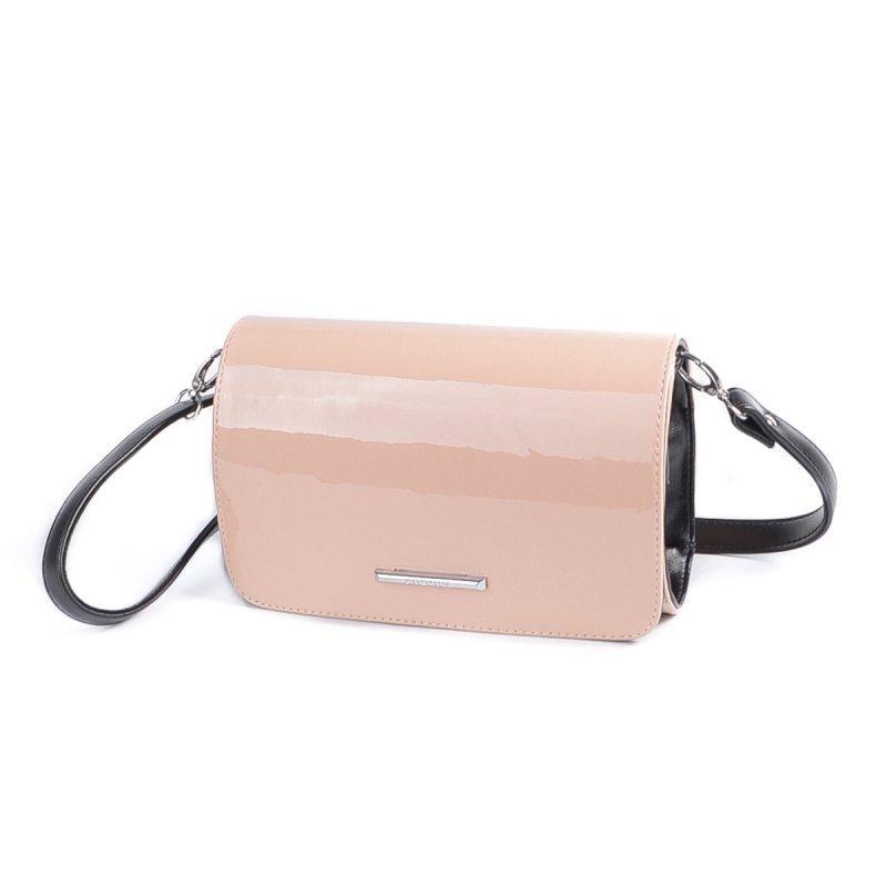 c8c981977400 Розовая лаковая сумка-клатч через плечо М63-80/33 - Интернет магазин сумок