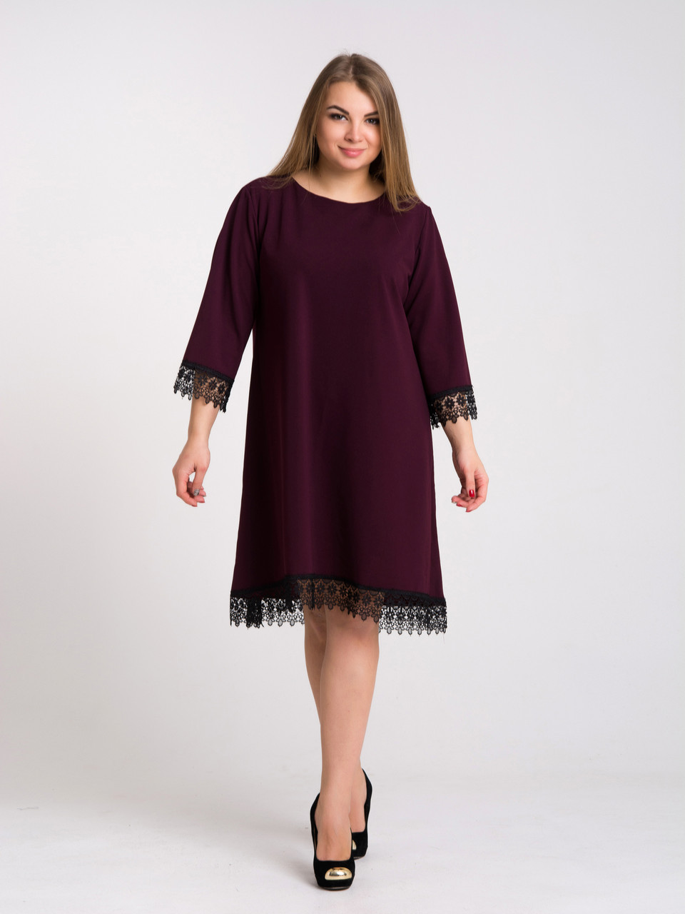 Платье K&ML 433 бордовый 50, фото 1