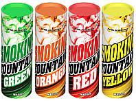 Цветной дым, набор из 4-х дымов, 35 сек., зеленый, жёлтый, красный, оранжевый