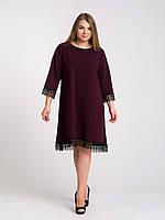 Платье K&ML 433 бордовый 52, фото 1