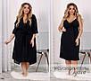 Комплект домашний женский халатик+сорочка креп-шифон+трикотажная подкладка+итал кружево 48-52,54-58, фото 2