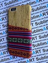 Дизайнерский чехол ручной работы для Iphone 6 (дерево ткань с кармашком), фото 3