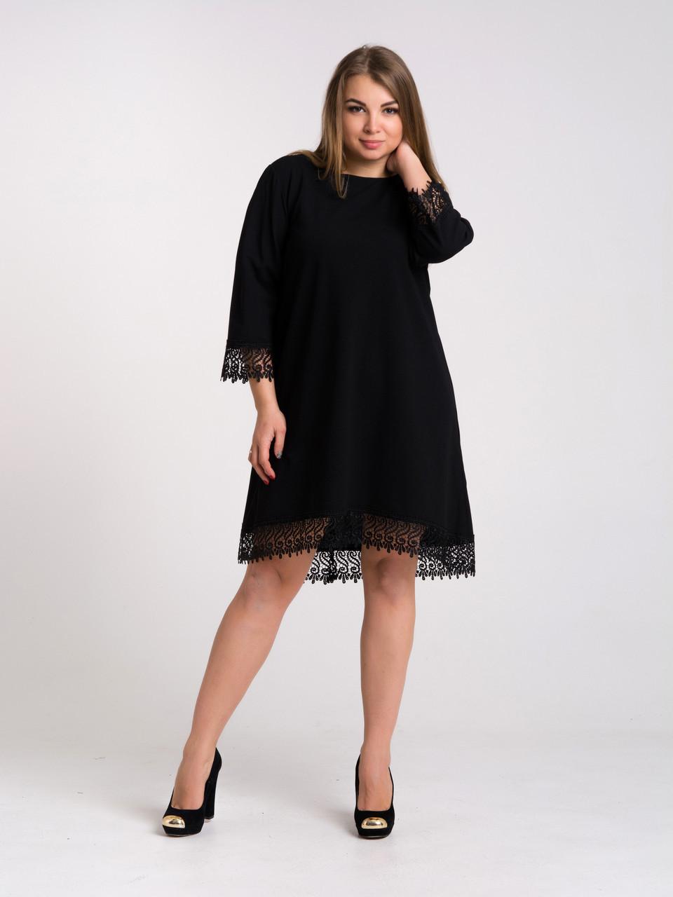 Платье K&ML 433 черный 50