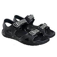 Мужские сандали летние черные ПВХ Gipanis
