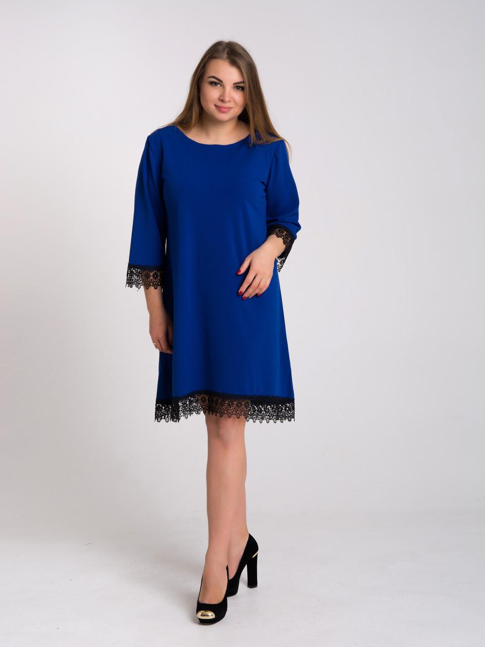Платье K&ML 433 синий 50